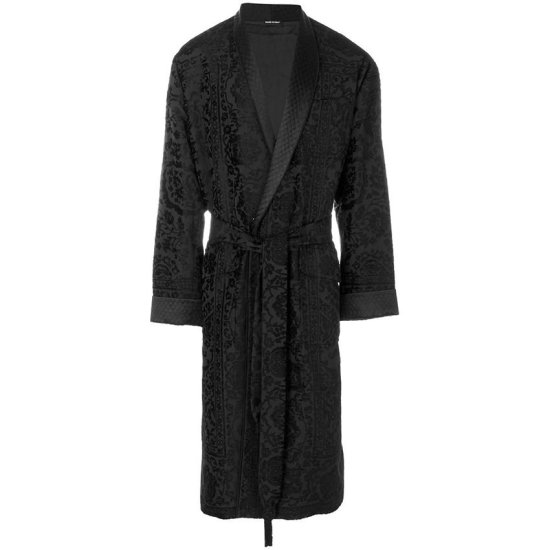 Alexander McQueen flocked robe coat as seen on Rihanna