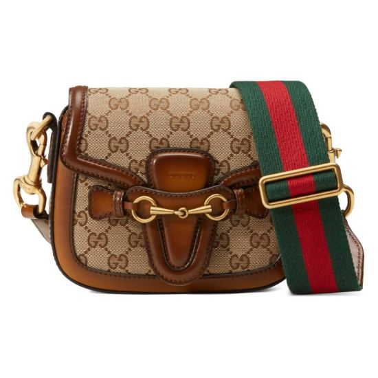 Gucci Lady Web GG monogram small handbag as seen on Rihanna