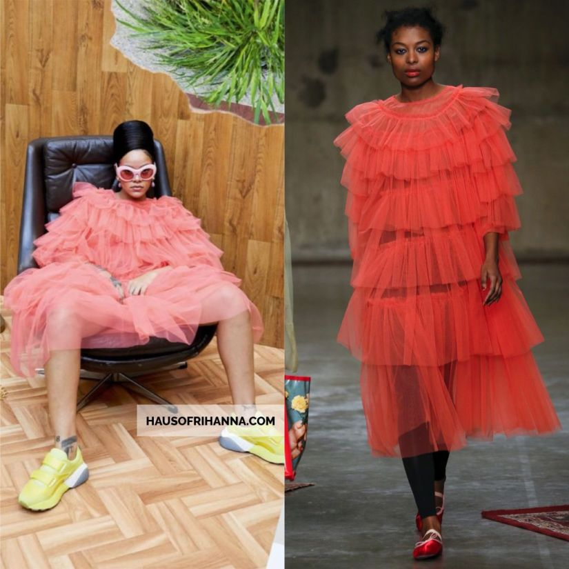 Rihanna Vogue Paris December 2017 Molly Goddard tulle dress