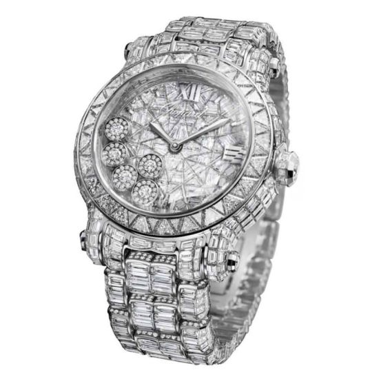 Chopard Happy Sport Diamantissimo watch as seen on Rihanna