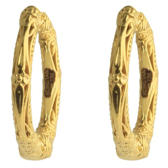Konstantino Flamenco Gold hoop earrings as seen on Rihanna