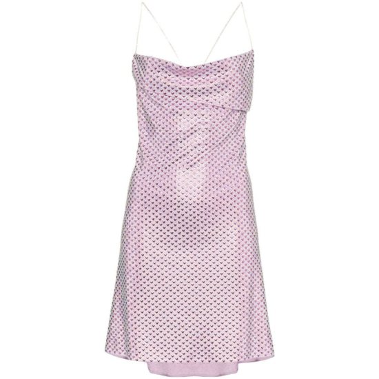 Adam Selman Bottom of my Heart pink crystal dress as seen on Rihanna