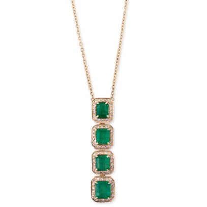 Jacquie Aiche vertical emerald necklace