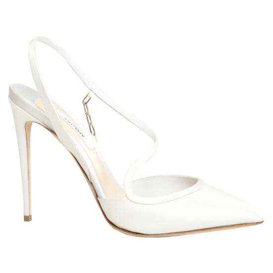 Olgana Paris white satin Troublante pumps