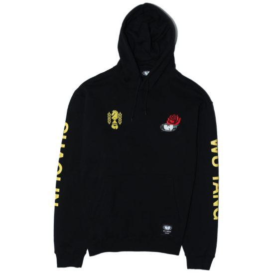 Wu Wear black Shaolin hoodie as seen on Rihanna
