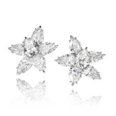 Chopard diamond cluster earrings as seen on Rihanna
