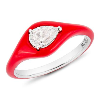 Etho Maria Diamonds in Red ring as seen on Rihanna