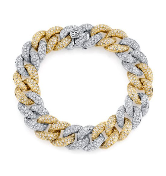 Sydney Evan Cuban link pave diamond bracelet as seen on Rihanna