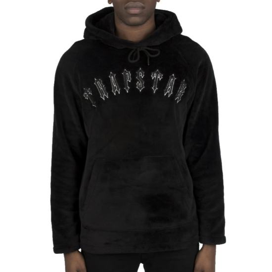Trapstar black Irongate fleece hoodie as seen on Rihanna