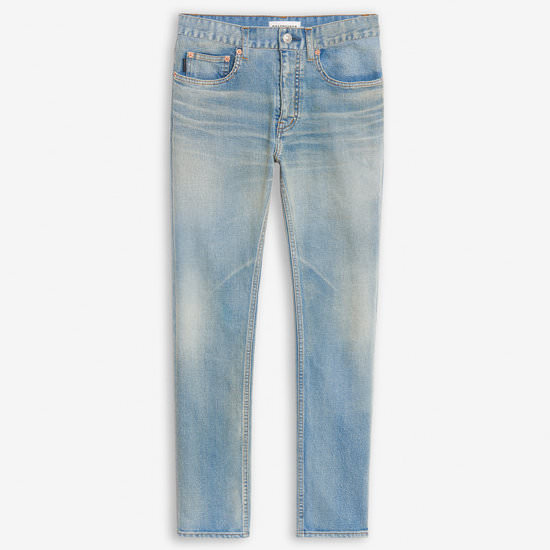 Balenciaga light blue smoky dirty denim jeans as seen on Rihanna
