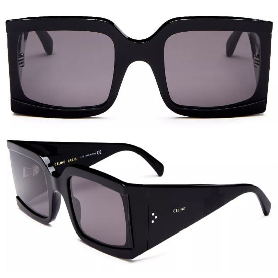 Celine black square oversized sunglasses as seen on Rihanna