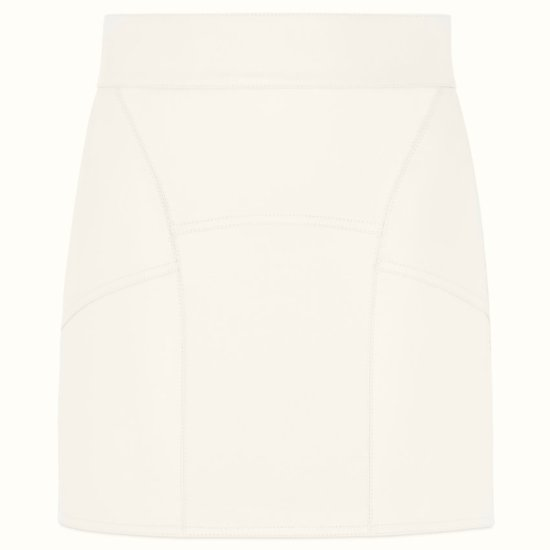 Fenty white leather mini skirt as seen on Rihanna