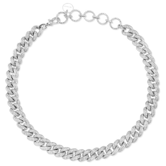 Shay Jewelry pave diamond white gold choker as seen on Rihanna