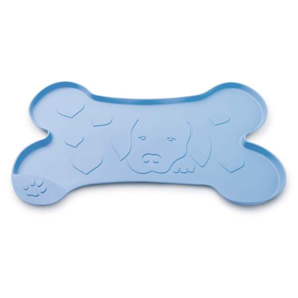 Freezack Napfunterlage Dog & Love Heart blau