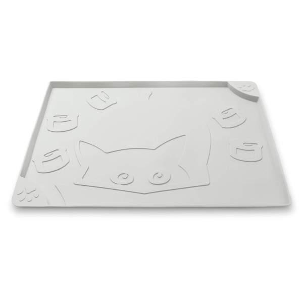 Freezack Napfunterlage Square Cat & Can grau