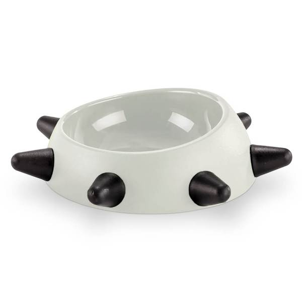 United Pets Hundenapf Boss Bowl with Spikes weiss