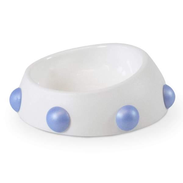 United Pets Hundenapf Boss Bowl Nano with Knobs weiss/blau