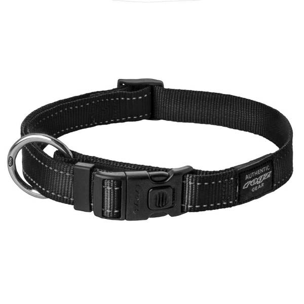 rogz Hundehalsband Utility schwarz L (34-56cm) 20mm|M (26-40cm) 16mm|S (20-31cm) 11mm|XL (43-70cm) 25mm|XS (16-22cm) 11mm|XXL (50-80cm) 40mm