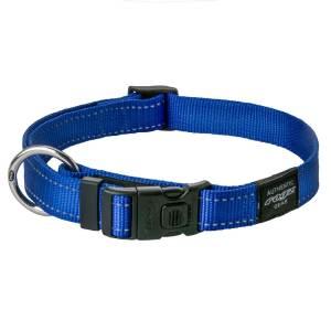 rogz Hundehalsband Utility blau L (34-56cm) 20mm|M (26-40cm) 16mm|S (20-31cm) 11mm|XL (43-70cm) 25mm|XS (16-22cm) 11mm|XXL (50-80cm) 40mm