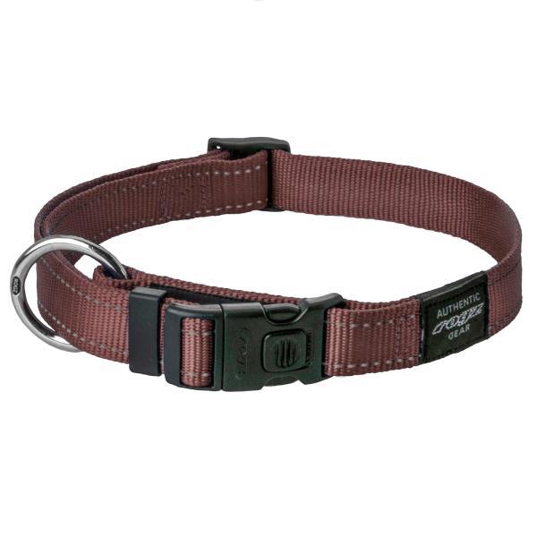 rogz Hundehalsband Utility braun M (26-40cm)