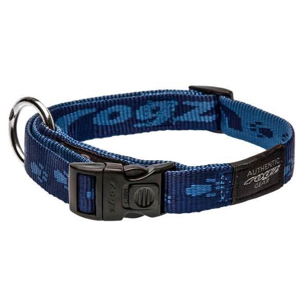 rogz Hundehalsband Alpinist blau L (34-56cm) 20mm|M (26-40cm) 16mm|S (20-31cm) 11mm|XL (43-70cm) 25mm|XXL (50-80cm) 40mm