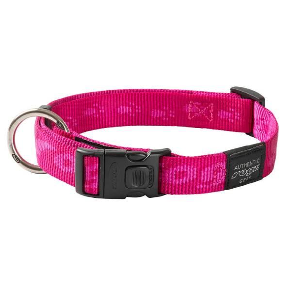 rogz Hundehalsband Alpinist pink L (34-56cm) 20mm|M (26-40cm) 16mm|S (20-31cm) 11mm|XL (43-70cm) 25mm|XXL (50-80cm) 40mm