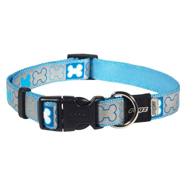 rogz Hundehalsband Reflecto blau M (28-46cm)|S (19-30cm|XS (14-21cm)