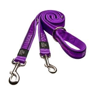 rogz Hundeleine Fancy Dress Purple Chrome L (180cm) 20mm M (180) 16mm S (180cm) 11mm XL (180cm) 25mm XXL (50cm) 40mm