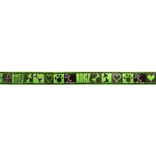 rogz Hundeleine Fancy Dress Lime Juice XL (180cm) 25mm