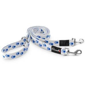 Freezack Hundeleine Nordic Fashion weiss/blau L (180cm) 20mm