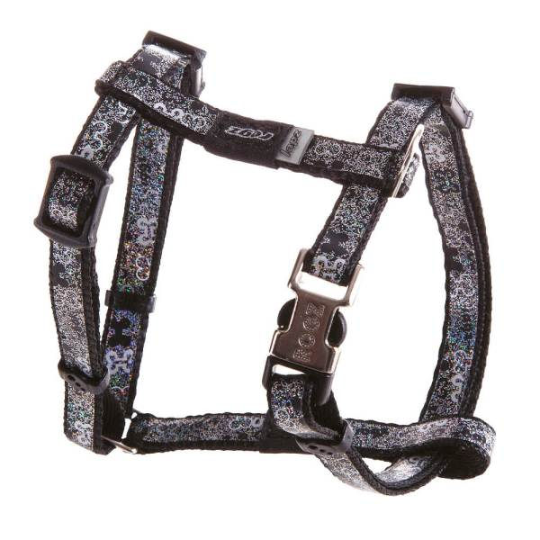 rogz Hundegeschirr Trendy schwarz M (41-70cm)|S (28-47cm)|XS (22-34cm)