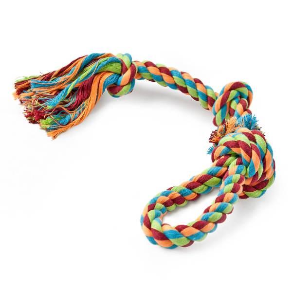 Freezack Hundespielzeug Knotenseil mit Schlaufe L (63.5cm)|M (50cm)|S (45cm)
