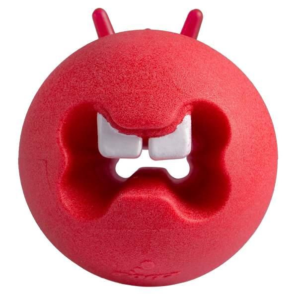 rogz Hundespielzeug Fred Treat Ball rot