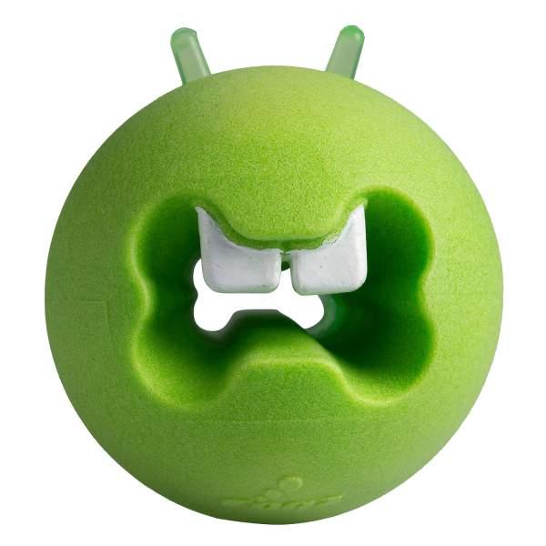 rogz Hundespielzeug Fred Treat Ball grün