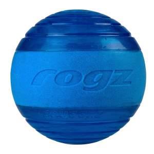 rogz Hundespielzeug Squeekz Ball blau