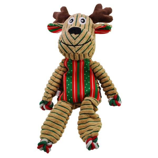 KONG Hundespielzeug Holiday Floppy Knots Rentier