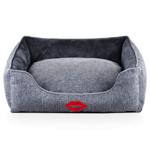 Freezack Hundebett Kiss dunkelgrau L (75x65x20cm)|M (65x55x18cm)|S (55x45x16cm)