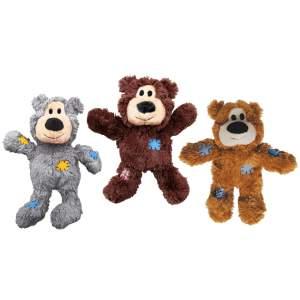 KONG Hundespielzeug Wild Knots Bear assortiert ML (25.5cm)|SM (18cm)|XL (33.5cm)|XS (10cm)
