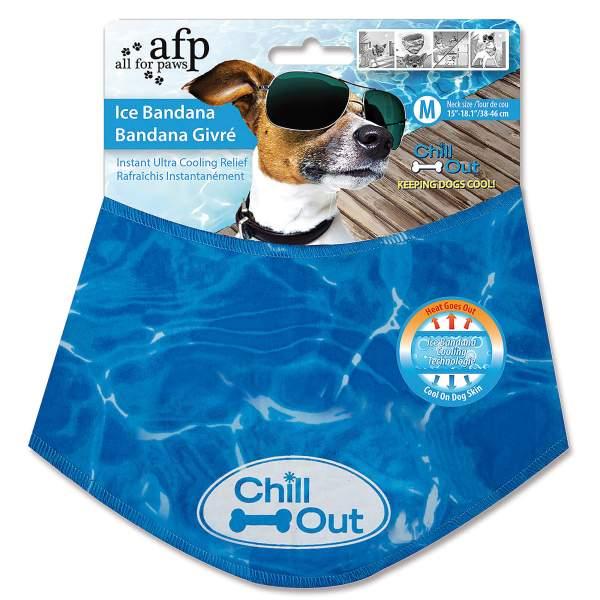 All For Paws Kühlendes Bandana für Hunde Chill Out L (44-52cm)|M (38-46cm)|S (30-36cm)|XL (53-62cm)