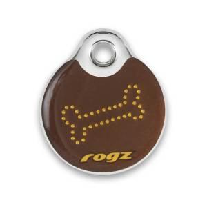 rogz Passport ID-Tag Bronze Bones L (34mm)|S (27mm)