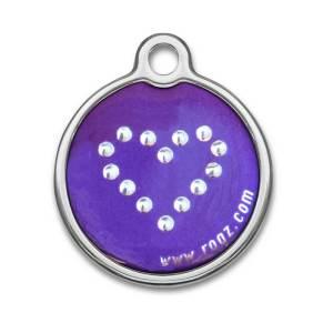 rogz Metal ID-Tag Purple Chrome L (30mm)