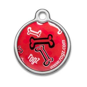 Metal ID-Tag Red Bones L (30mm)|S (20mm)