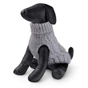 Hundepullover Merino grau 20cm|22cm|25cm|28cm|32cm|36cm|40cm