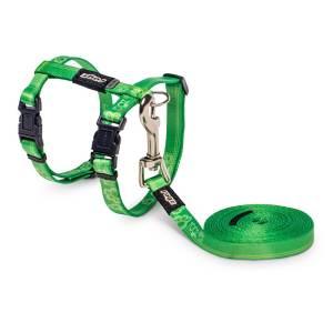 Geschirr & Leine KiddyCat grün 1.8m/19.8-30cm (8mm)|1.8m/24-40cm (11mm)