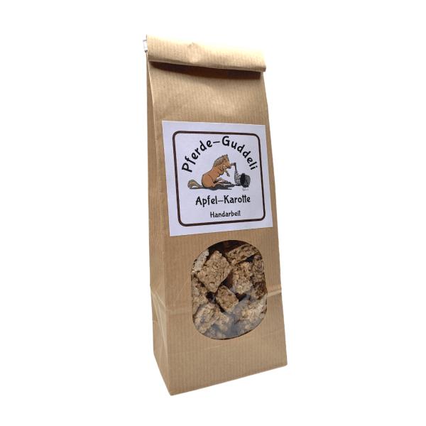 Haferflocken Snacks für Pferde mit Karotten und Apfel – 250g.