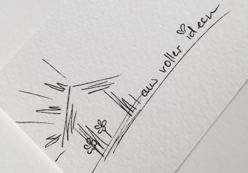 Skizze Haus voller Ideen