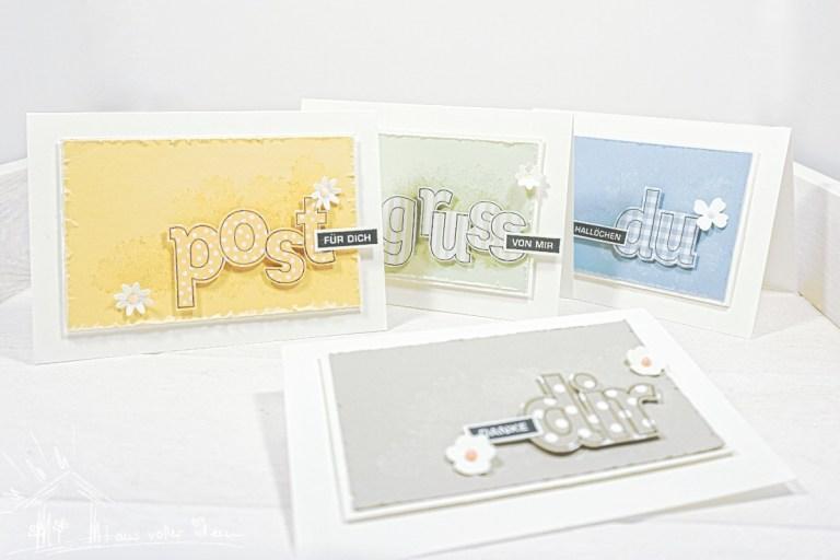 Grußkarten Alles im Block und Lined Alphabet