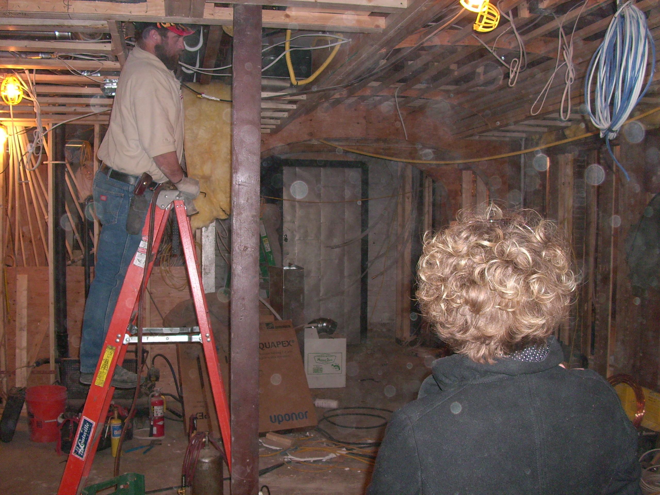 during ceiling wine cellar