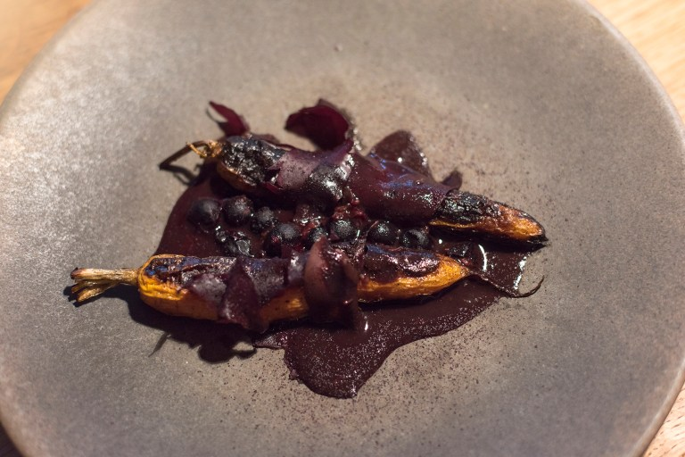 Carrots, sol and blackcurrants.