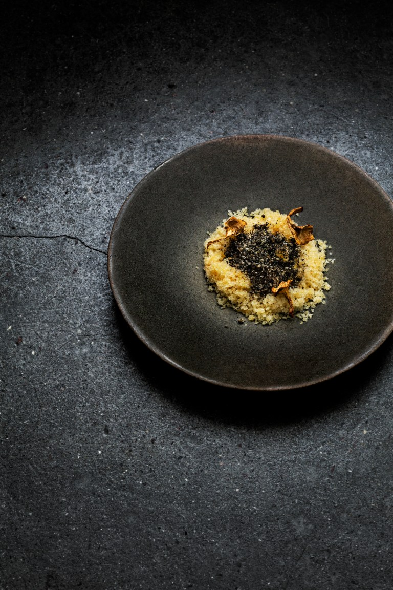 Chantarelles, Apple and Granité. Photo: courtesy of Relae